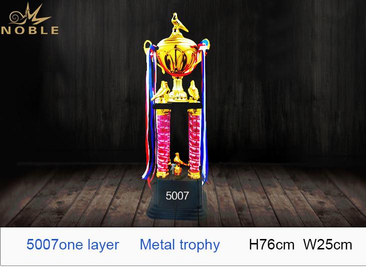 Noble Custom Champion Award Big Size Four Column Metal CupTrophy