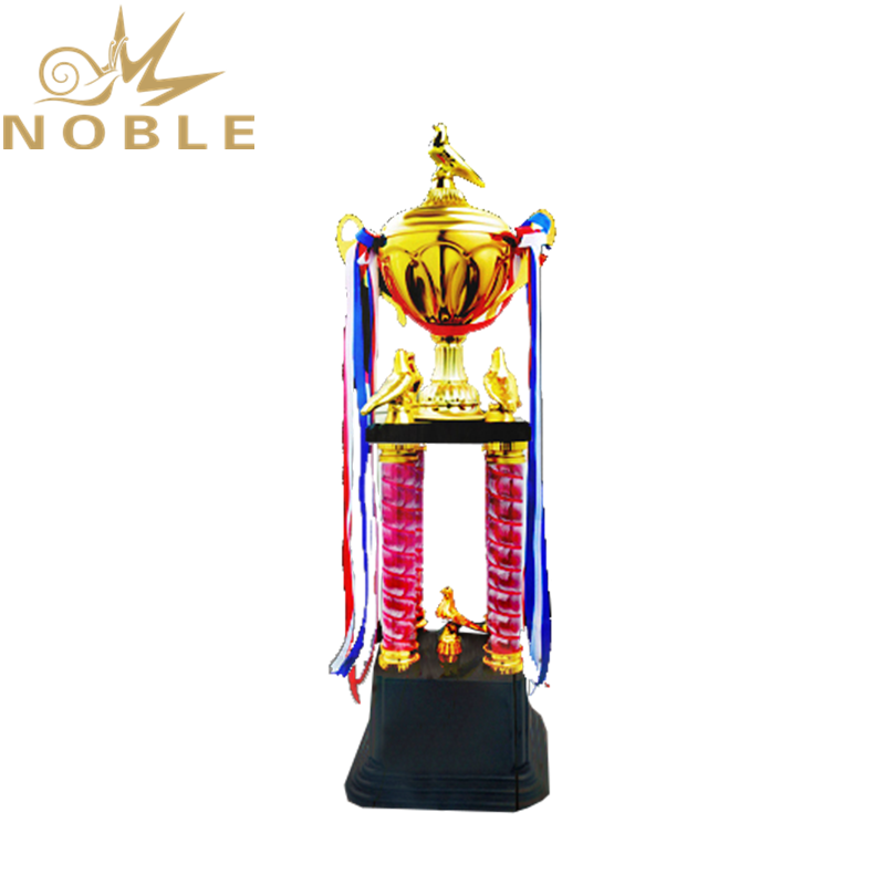Noble Custom Champion Award Big Size Four Column Metal CupTrophy
