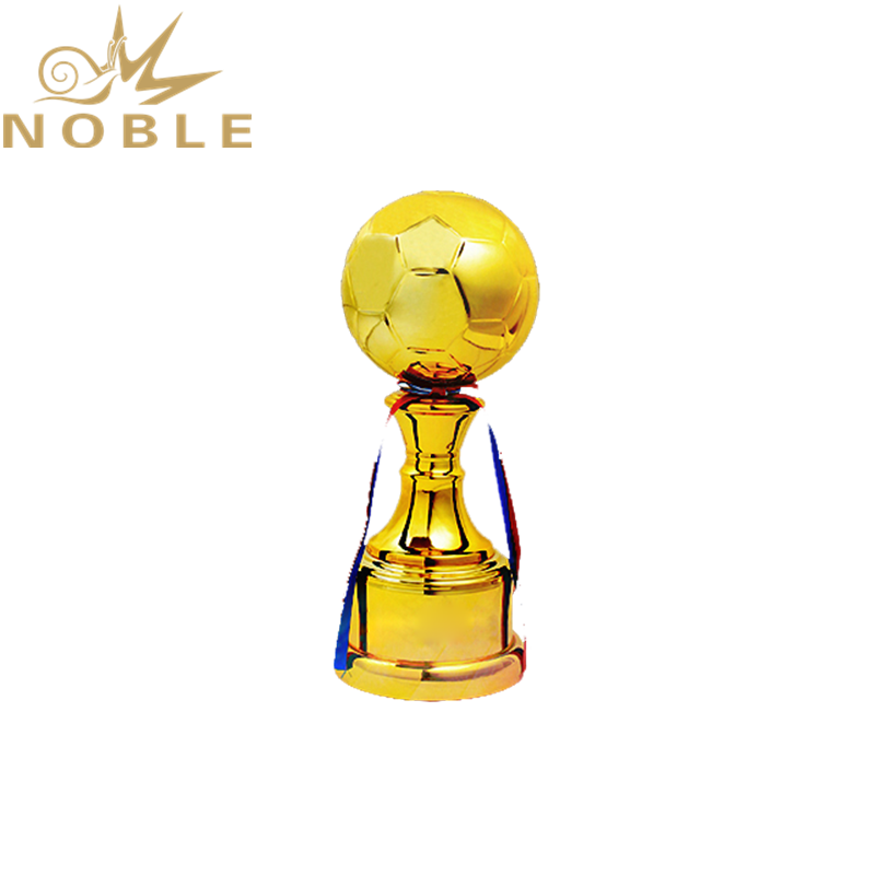 High Quality Shiny Golden Ball Metal Soccer Trophy