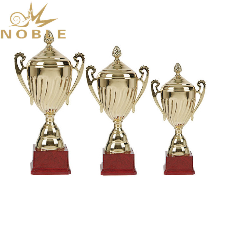 Popular High Quality Championship Cup Metal Trophy with Lid