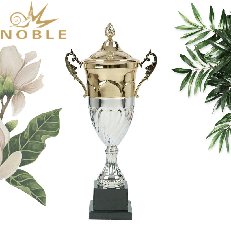 Royal Double colors electroplating Custom Metal Cup Trophies