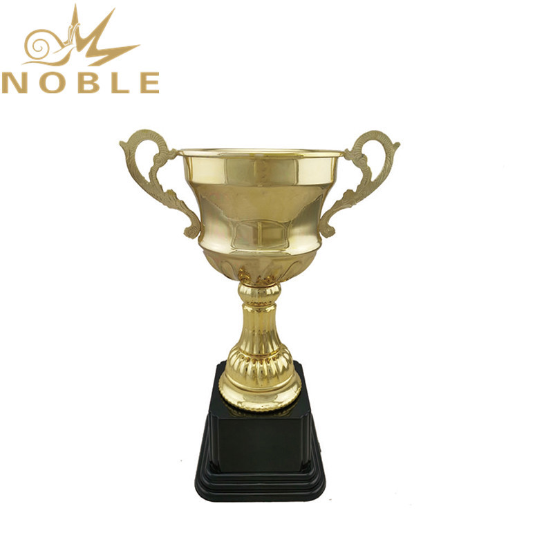 Noble Gold Plated Metal Champion Cup Trophy for Cycling Competitions