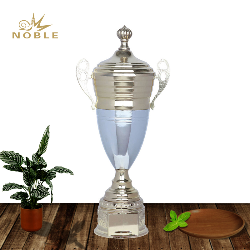 Shiny Gold & Silver Double Plated Metal Motorsport Trophy for Championship