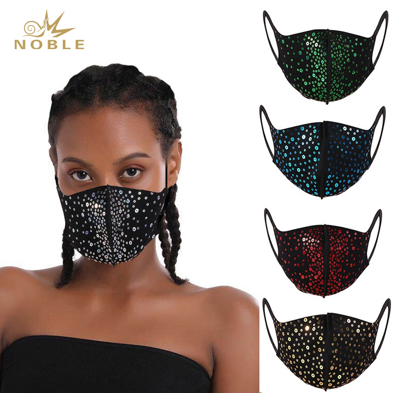 Fashion Show Holiday Mask Sequin Face Mask Party Mask