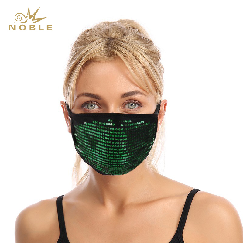 Masquerade Halloween Party Clubwear Womens Glitter Reusable Face Mask Sparkly Sequins Face Party Mask