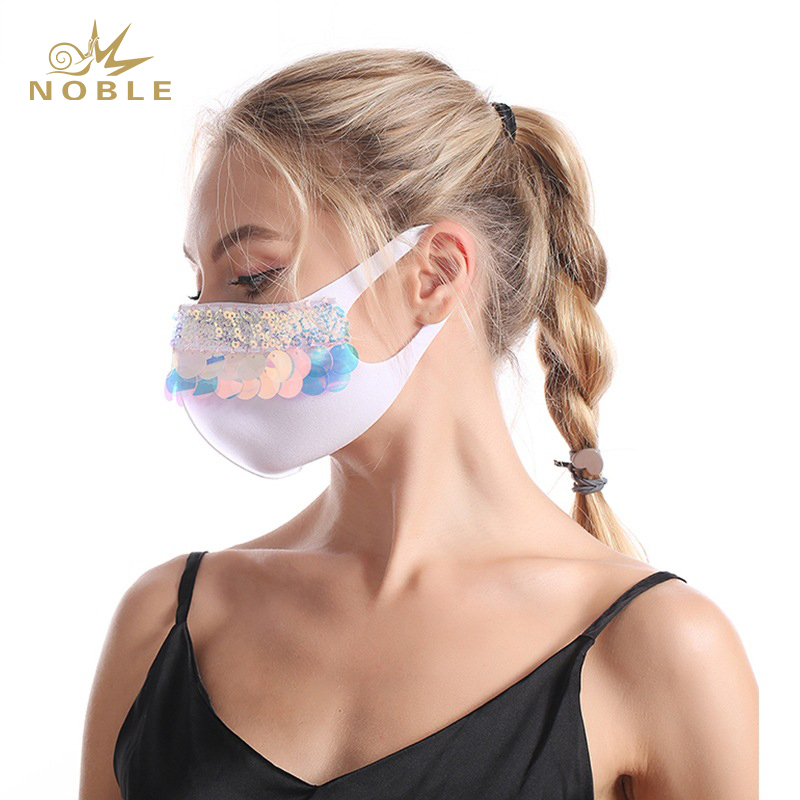 Wholesale 2020 China Supplier New Style Rhinestone Party Fashion Face Mask with Design