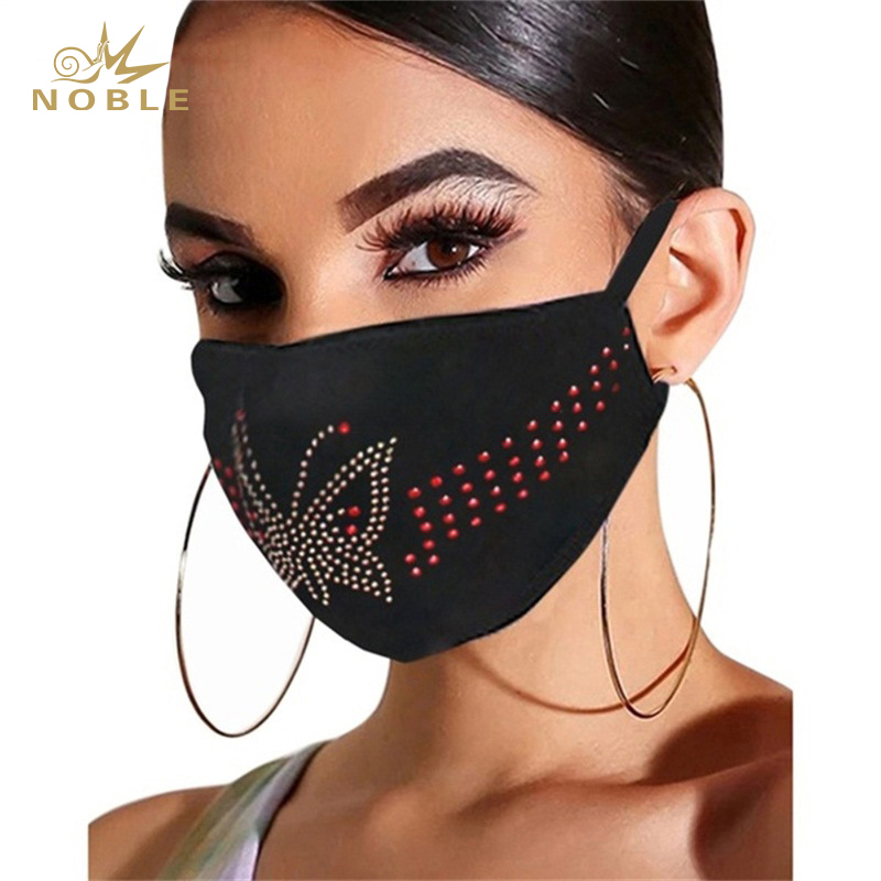 Custom Design Rhinestone Decoration Party Reusable Face Mask