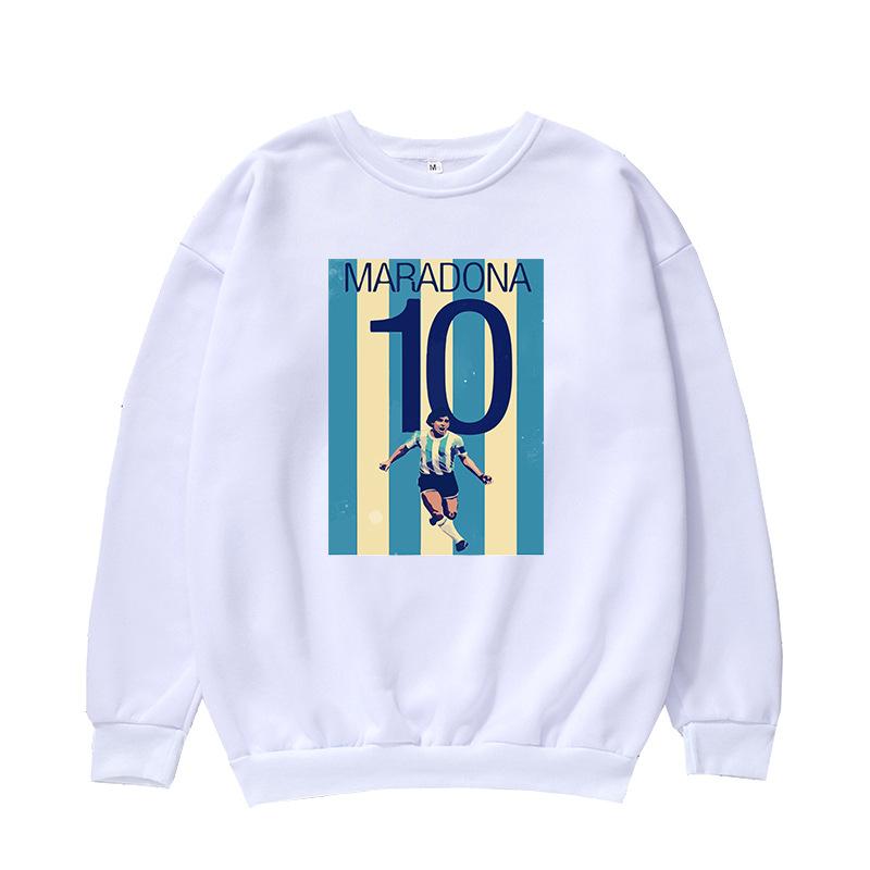 Custom Printing Diego Maradona Blank Pullover Sweatshirt for Pray for Maradona