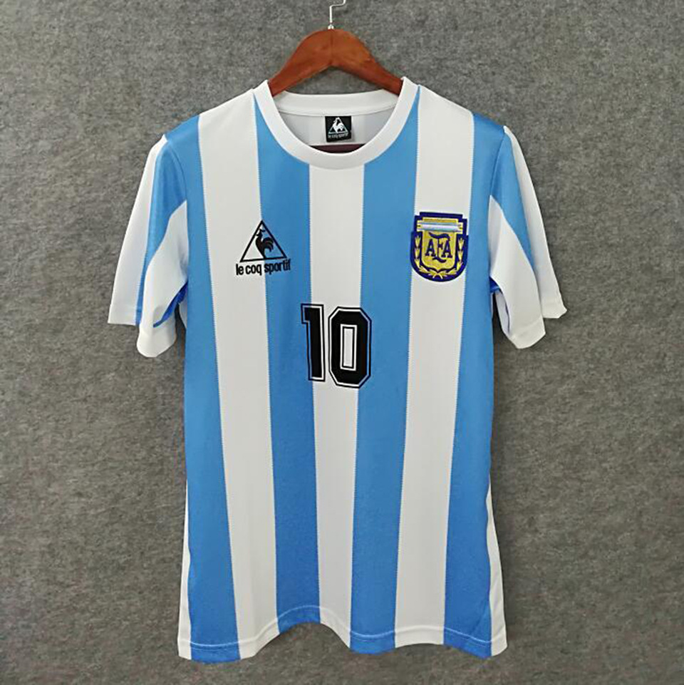 Maradona Jerseys Soccer Souvenir Jerseys Memorial for Maradona