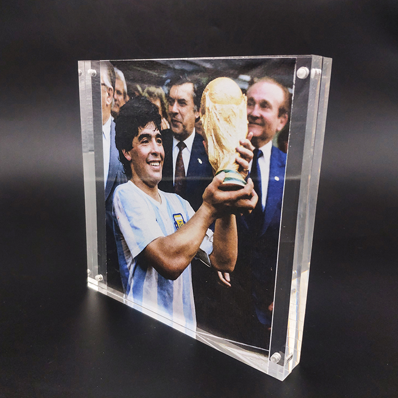 Fast Delivery Acrylic Maradona Photo Frame for Maradona Memorial