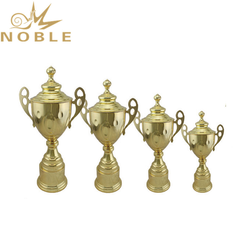 Gold Plated Metal Trophy Tennis Sports Award