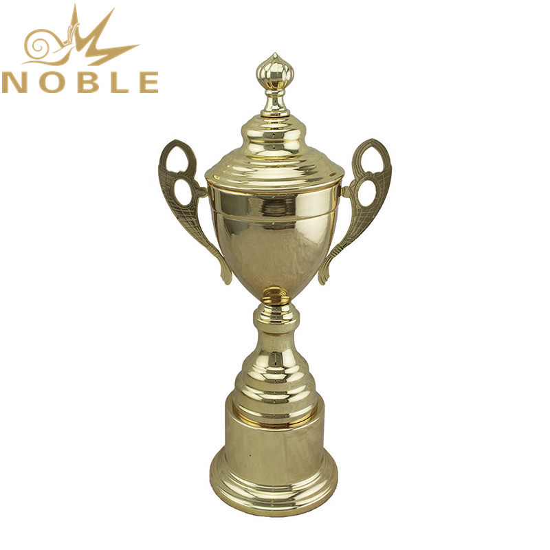 Noble New design Metal Sports Netball Trophy with Lid