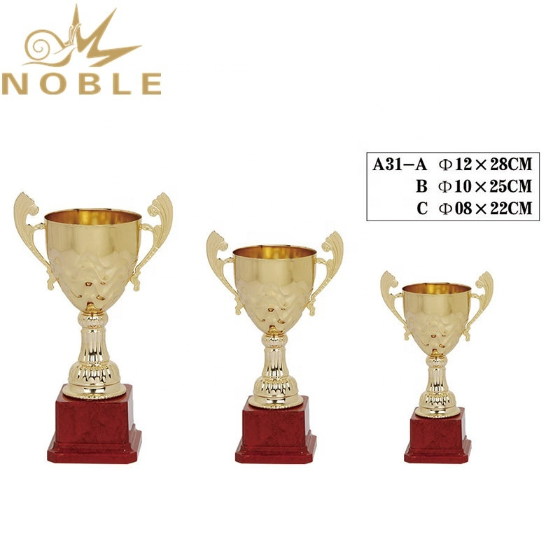 High Quality Cheap Metal Cup Trophy with Red Base