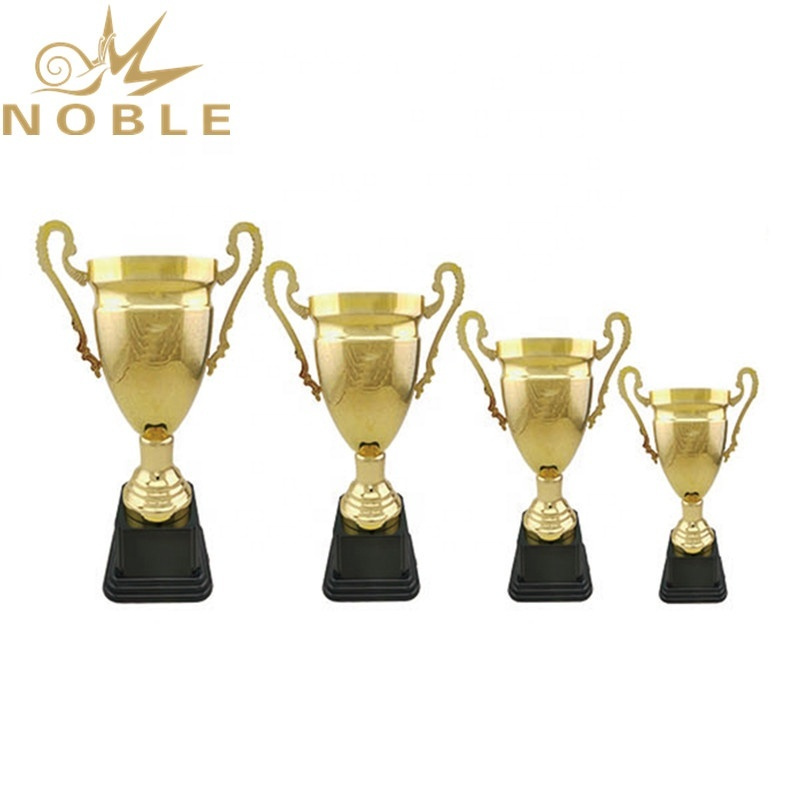 Shiny Gold Simple Metal Cup Custom Sports Trophy for Badminton Games