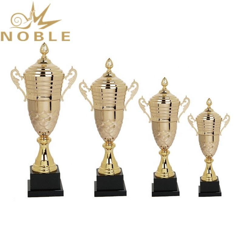 Custom Logo Printed High Quality Sports Metal Tennis Trophy Award