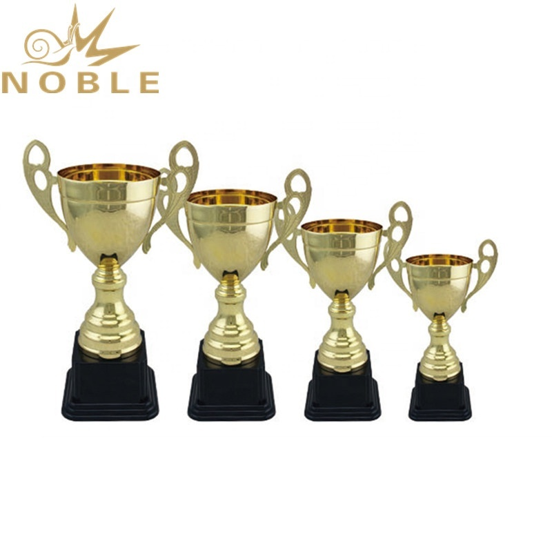 Noble Unique Design Free Logo Printed Metal Wrestling Cup Trophy