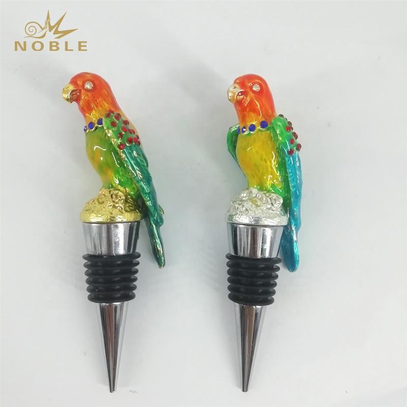 3D Animal Figurine Custom Wedding Gifts Metal Bird Wine Bottle Stopper