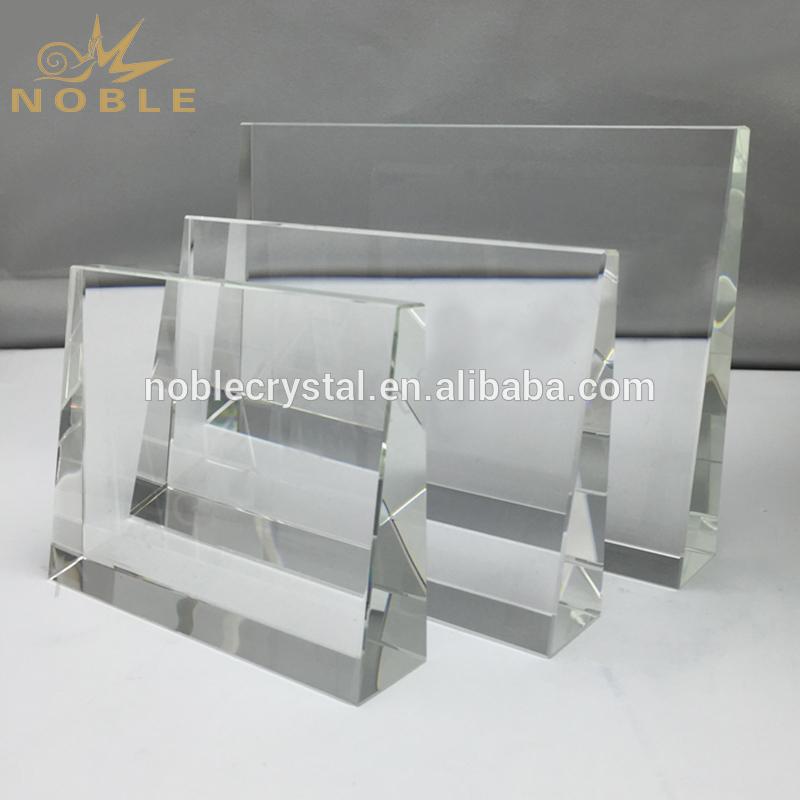 Free Engraving Custom Crystal Blank Award Crystal Wedge Trophy