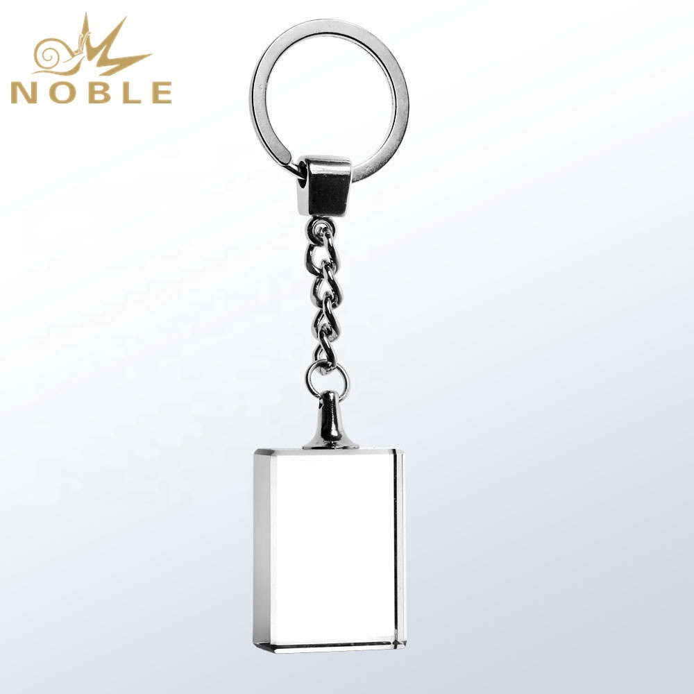 Noble custom engraving blank crystal key chain as souvenir gift