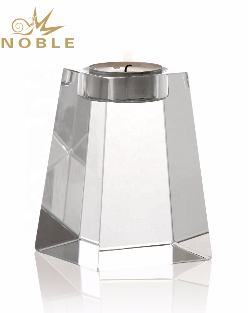 Noble Custom Engraving Crystal Candle Holder High Quality Crystal Wedding Gifts