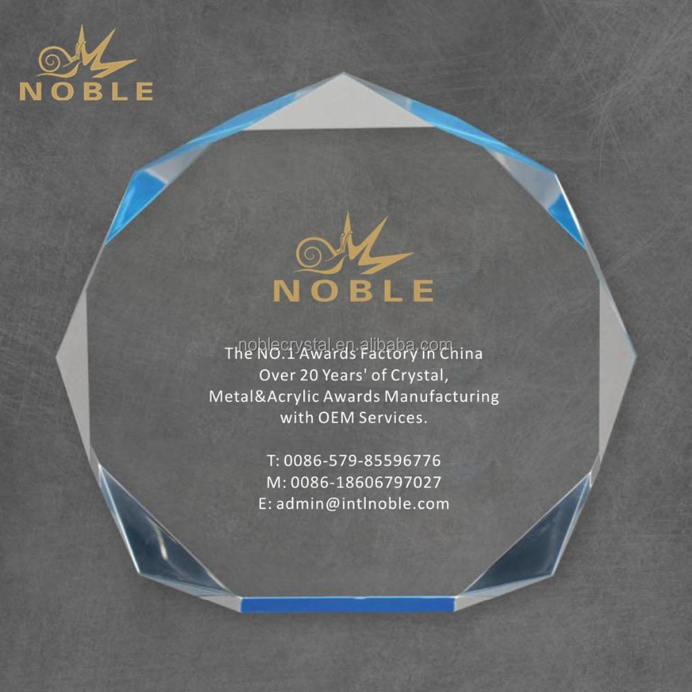 Noble Custom Laser Engraving Acrylic Octagon Trophy