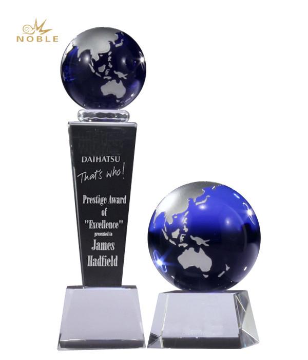 Singleton Prince Creek Champion Crystal Globe Award Trophy