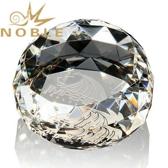 Noble Custom Diamond Facets Paperweight