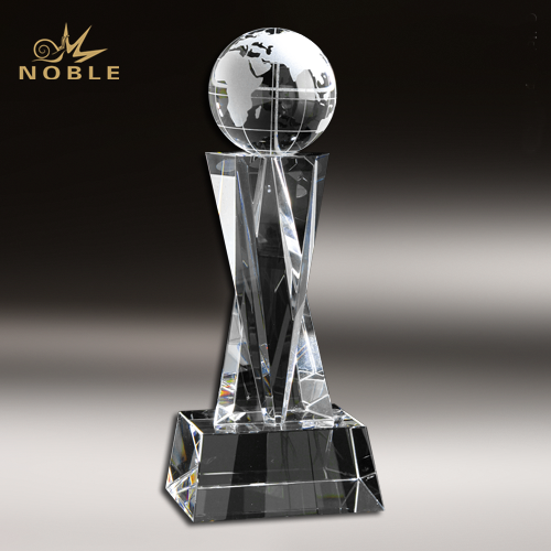 Corporate Gifts Crystal Earth Globe Trophy Awards