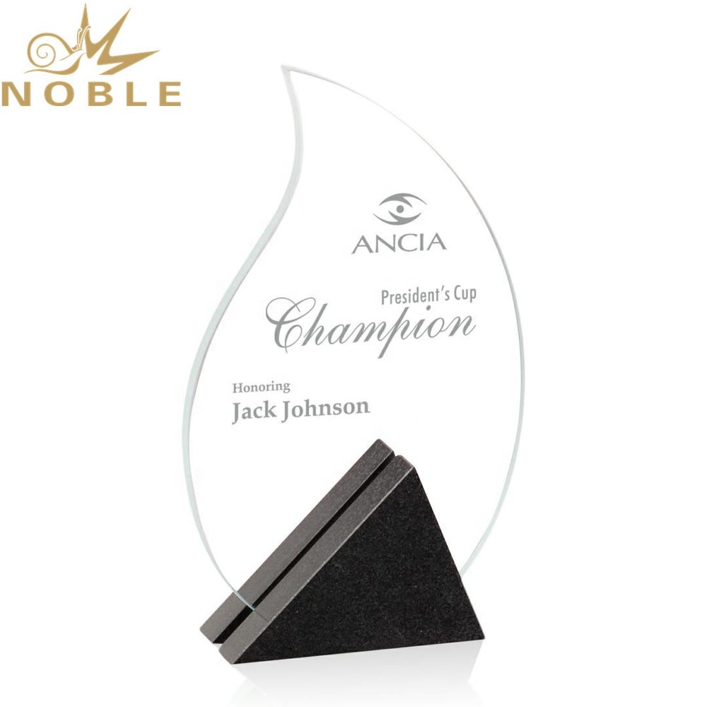 New design crystal flame plaque trophy with custom engraving