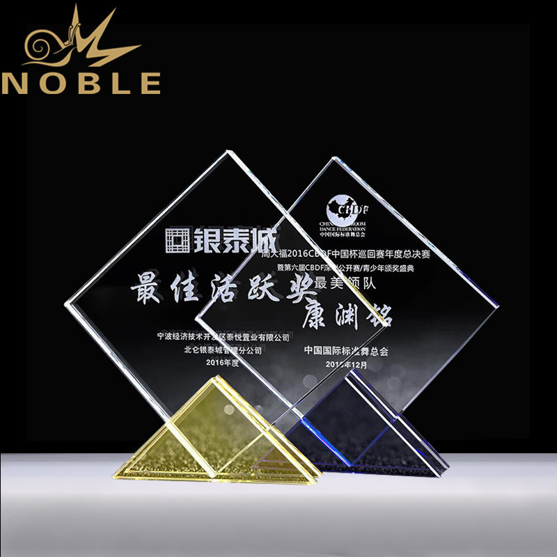 New design Popular custom crystal plaque award with free engraving