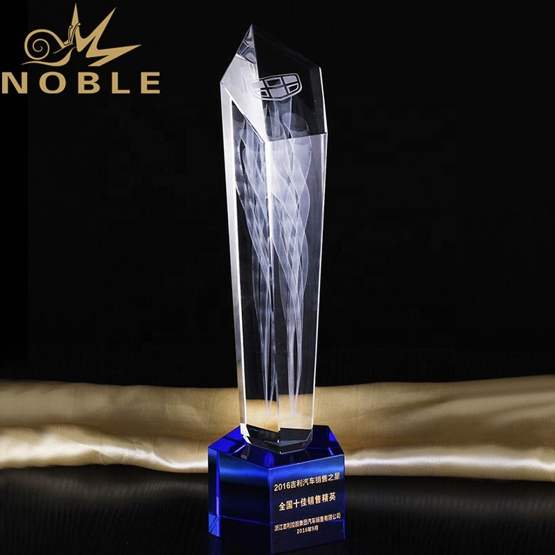 Noble High Quality Custom 3d Laser Engraving Crystal Trophy