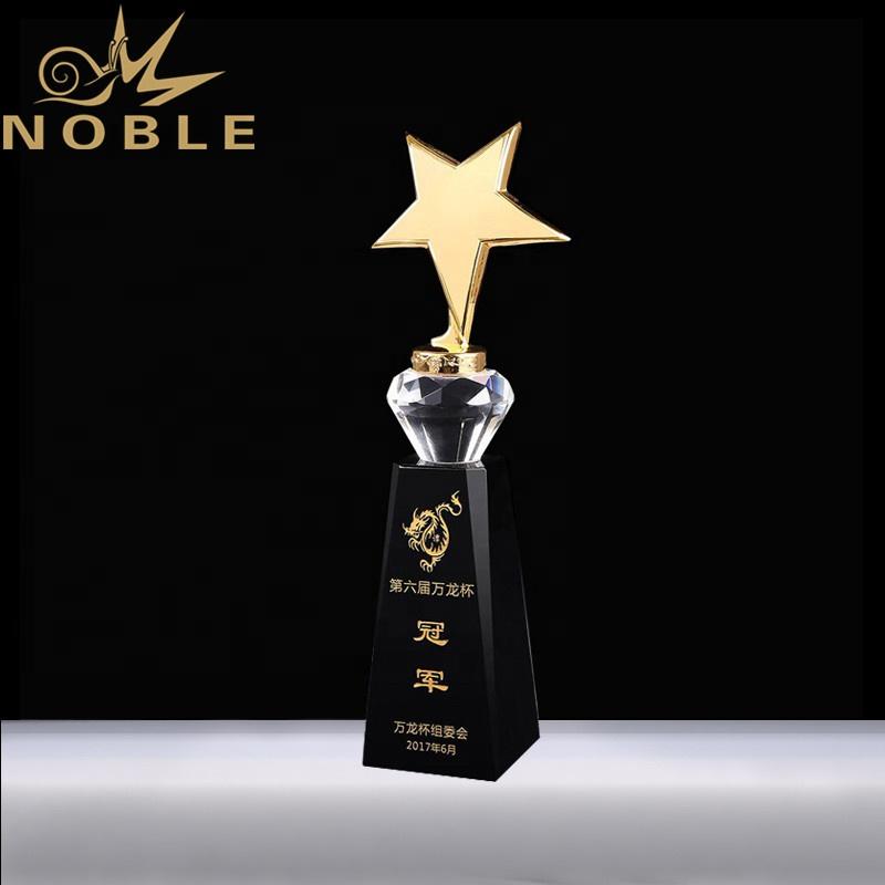 Free engraving crystal diamond metal star custom trophy