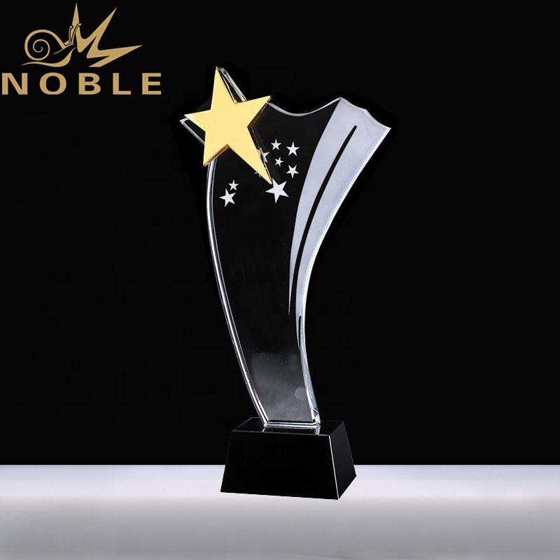 Free engraving custom crystal star trophy