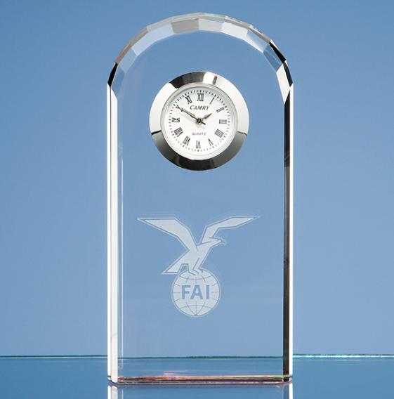 Best Selling Crystal Souvenir Business Gift Custom Crystal Clock Award