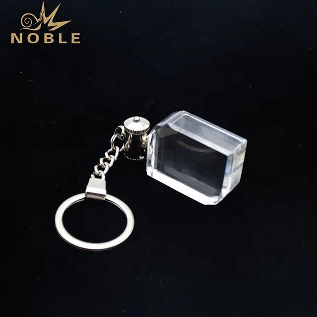 Custom 3d Laser engraving Blank Crystal Keychain