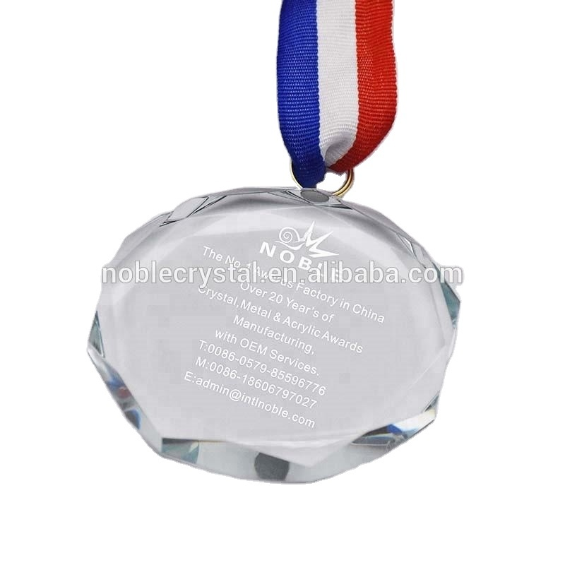 Promotional Custom Corporate Sports Souvenir Gifts Crystal Medal