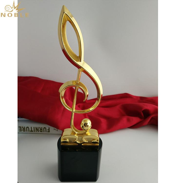 Custom High Grade Metal Crystal Music Trophy Award
