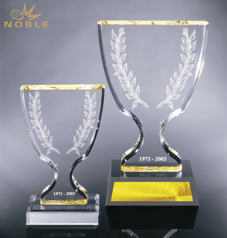 Noble New Design Custom Engraving Crystal Champion Cup Trophy