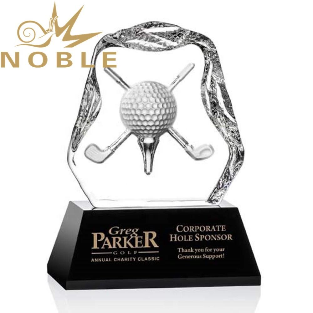 high quality custom sports crystal Iceberg golf trophy