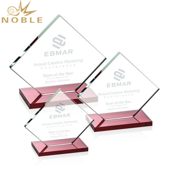 Hot selling Custom Engraving Glass Square Plaque Award