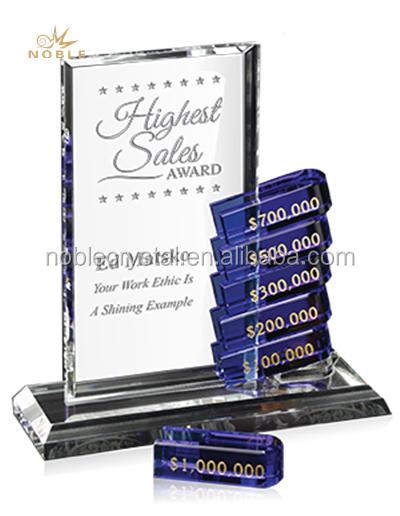 New Design Custom Crystal cooperation Teamwork trophy