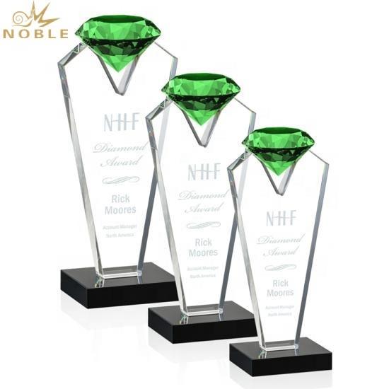 Souvenir Gifts Green Diamond Crystal Tower Award