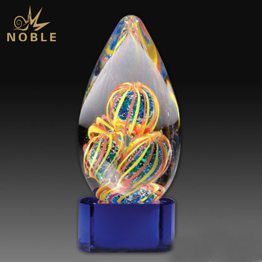 New Design Hand Blown Home Decoration Gift American Art Glass Award