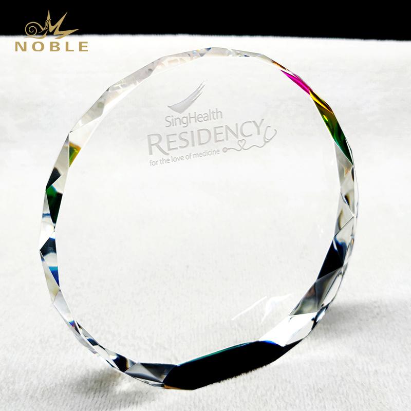 Noble High Quality Custom Engraving Crystal Souvenir Plaque Trophy