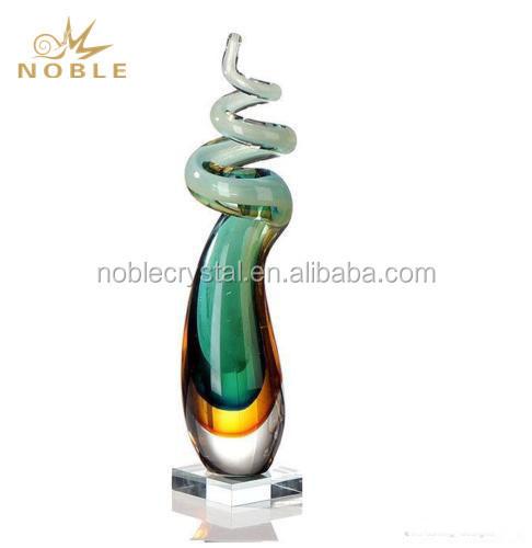Elegant Design Gifts Favor Hand Blown Custom Art Glass Trophy Award