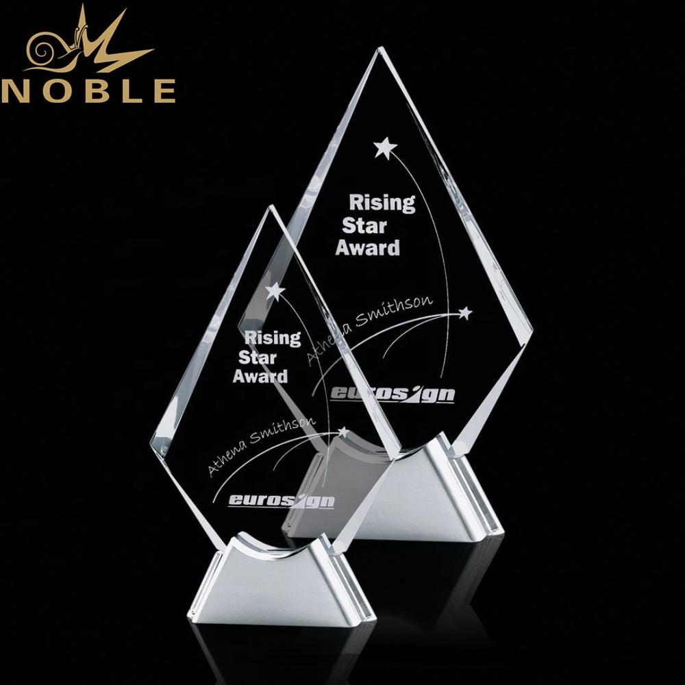 High quality best selling optical Custom crystal plaque award on Aluminum base