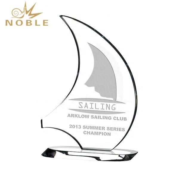 Noble custom boat crystal award sailing trophy as souvenir gift
