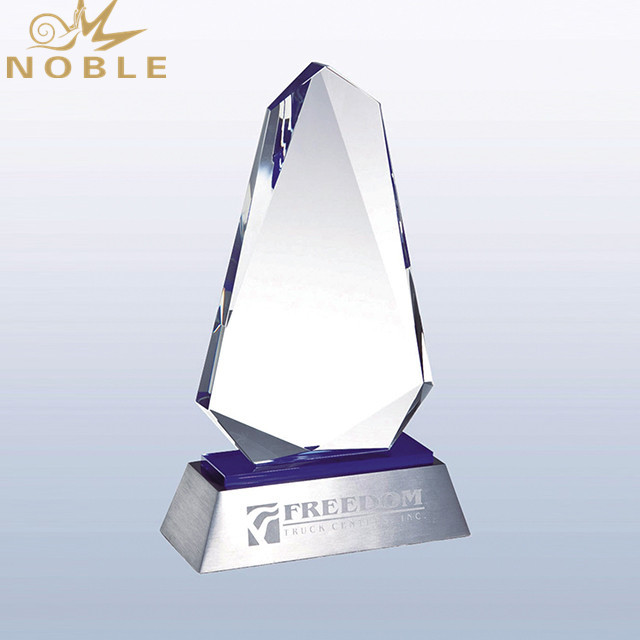 Noble High Quality Free engraving Custom Crystal Blank Trophy