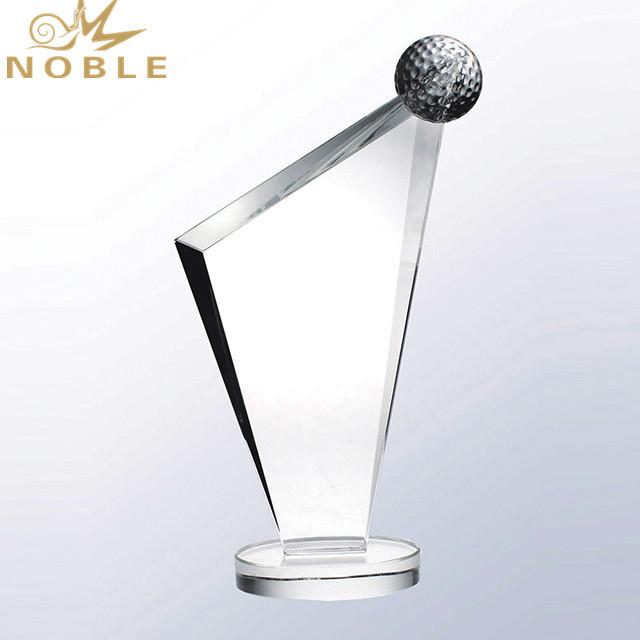 Custom sports champion Crystal Golf Trophy