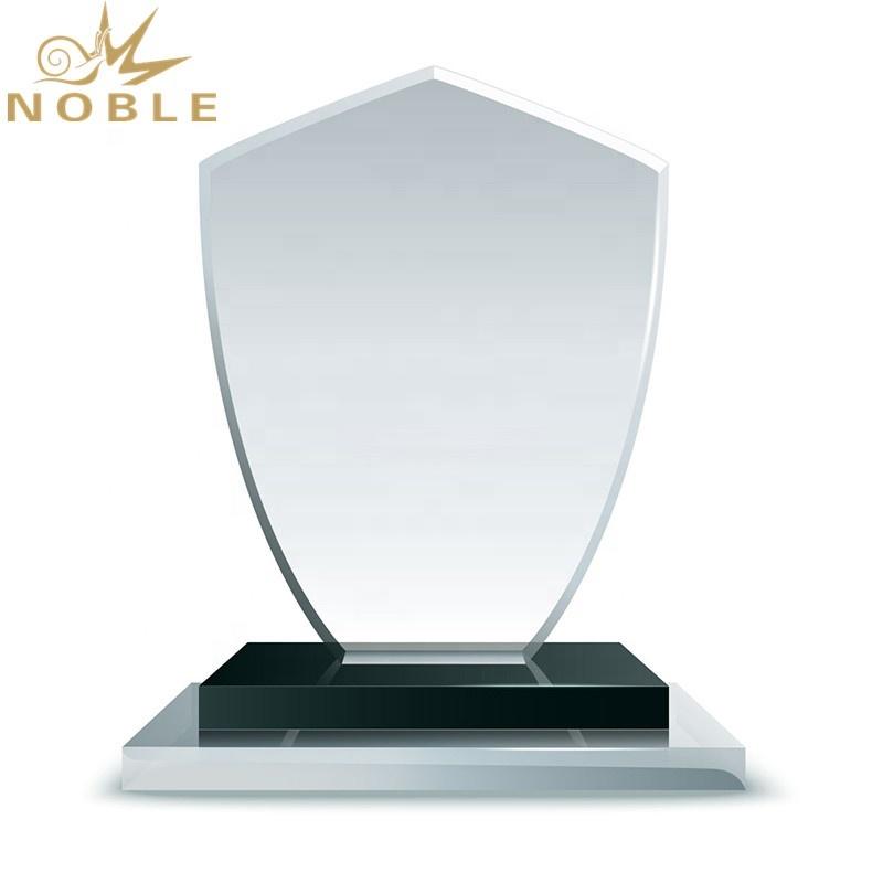 Wholesale Promotion Custom Crystal Blank Shield Plaque Trophy